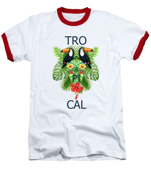 Tropical Summer  Baseball T-Shirt by Mark Ashkenazi