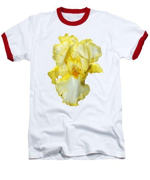 Yellow Mist Iris Baseball T-Shirt by Phyllis Denton