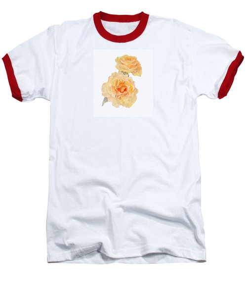Baseball T-Shirt featuring the painting Yellow Roses by Beatrice Cloake