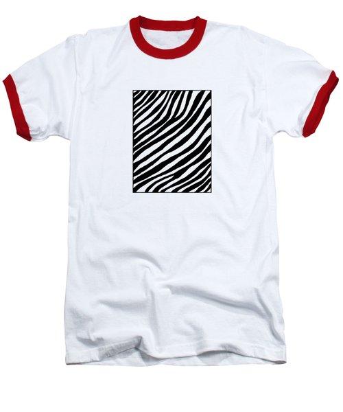 Zebra Baseball T-Shirt by Konstantin Sevostyanov
