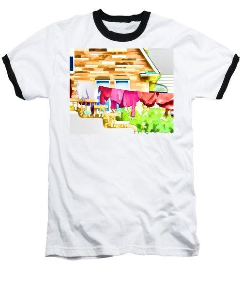 A Summer's Day - Digital Art Baseball T-Shirt