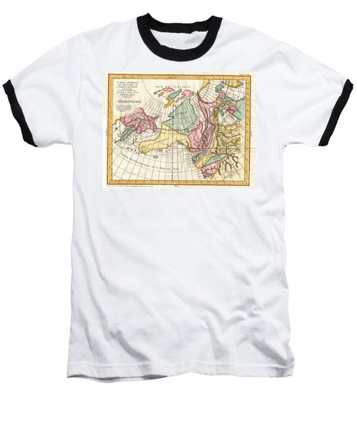 A Truly Fascinating 1772 Map Of The Northwestern Parts Of North America By Robert De Vaugondy And T Baseball T-Shirt