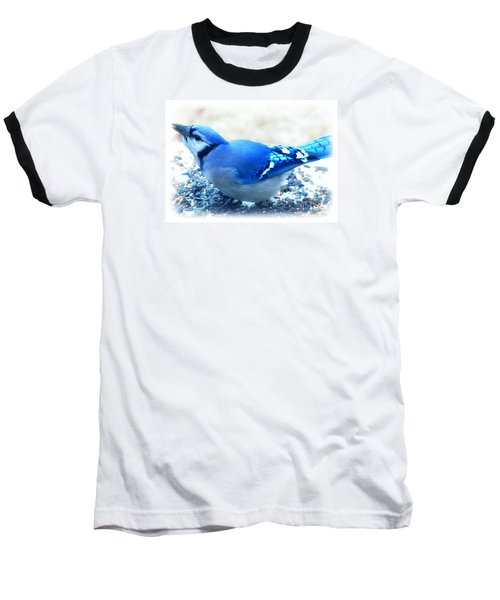 Bright Blue Jay  Baseball T-Shirt