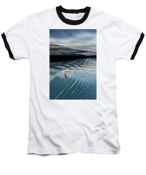 Journey With A Sea Gull Baseball T-Shirt by Gary Warnimont
