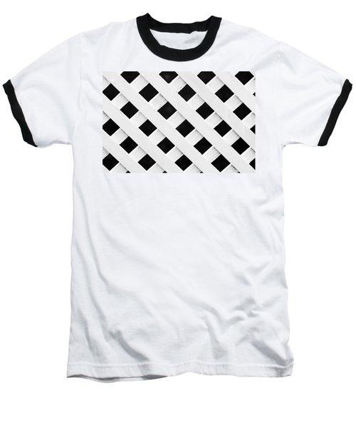 Lattice Fence Pattern Baseball T-Shirt