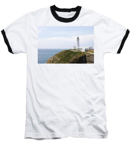 Lighthouse Landscape Baseball T-Shirt