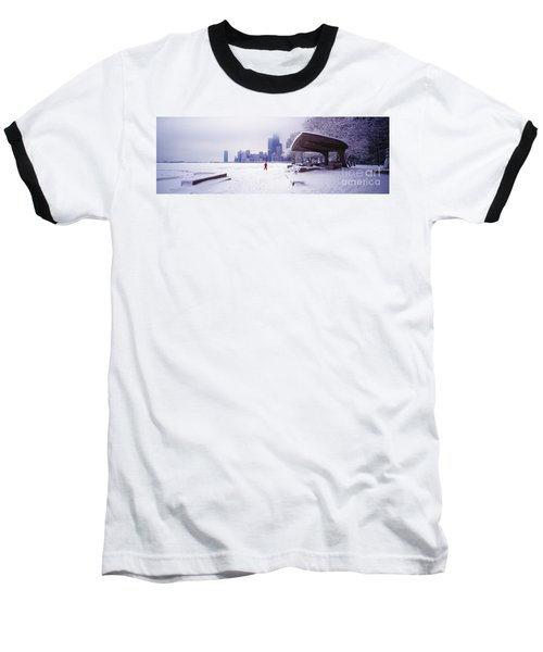 Baseball T-Shirt featuring the photograph  North Ave Beach Chess Palv Chicago Lake Front  by Tom Jelen