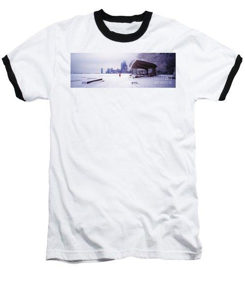 North Ave Beach Chess Palv Chicago Lake Front  Baseball T-Shirt