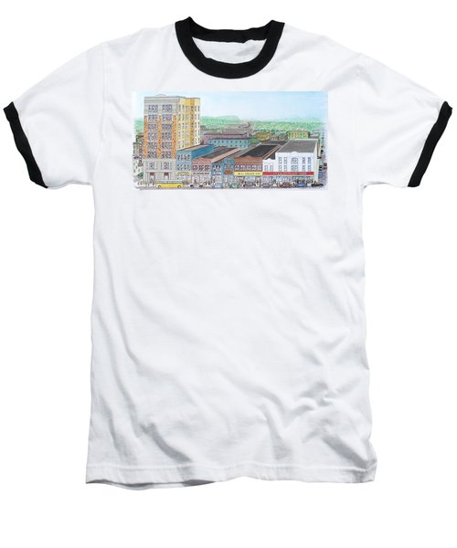 Portsmouth Ohio Dime Store Row 4th To 5th Baseball T-Shirt by Frank Hunter