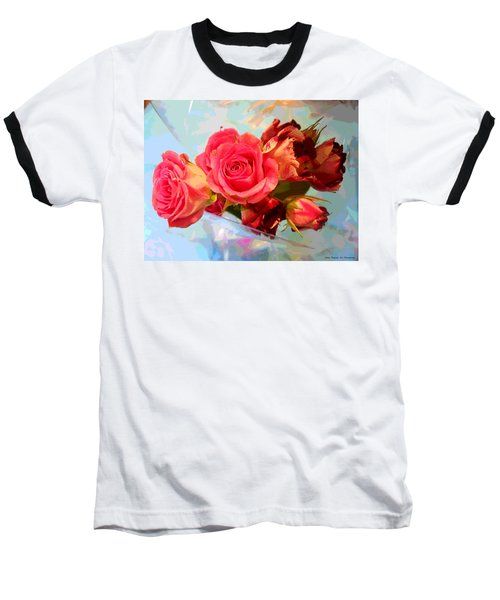 Roses 4 Lovers  Baseball T-Shirt by Rogerio Mariani