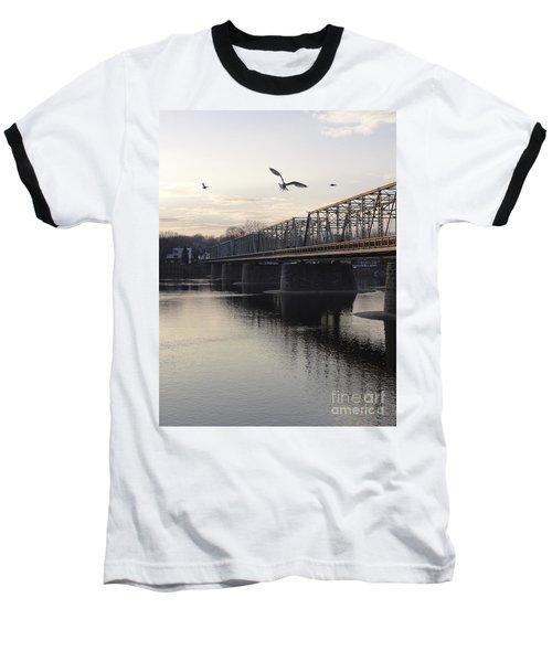 Gulls At The Bridge In January Baseball T-Shirt