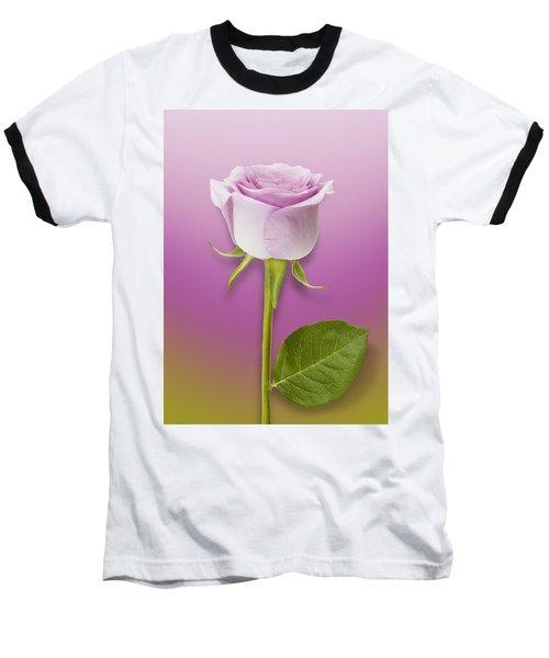 Single Lilac Rose Baseball T-Shirt