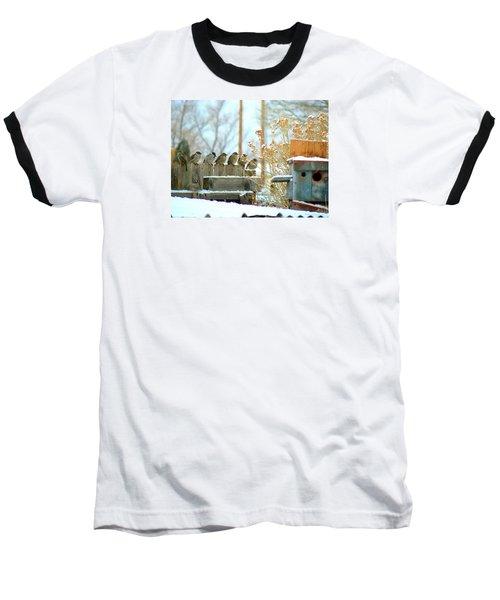 7 Winter Sparrows Baseball T-Shirt