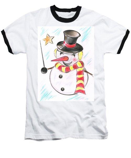 Snowmans  Stardom Baseball T-Shirt