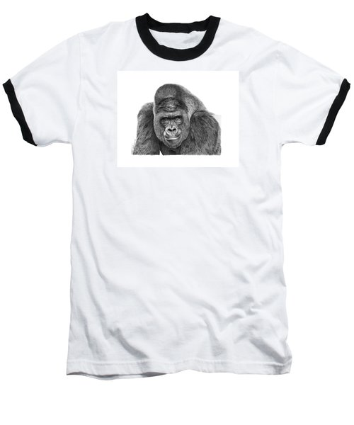 042 - Gomer The Silverback Gorilla Baseball T-Shirt by Abbey Noelle