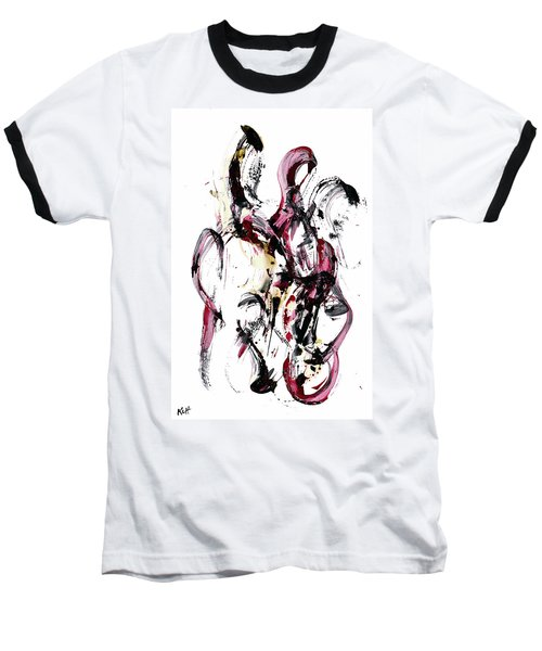 Baseball T-Shirt featuring the painting 10118.110409 - Dance Of The Universe 1 by Kris Haas