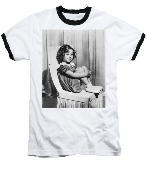 Actress Shirley Temple Baseball T-Shirt