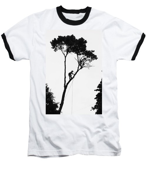 Arborist At Work Baseball T-Shirt