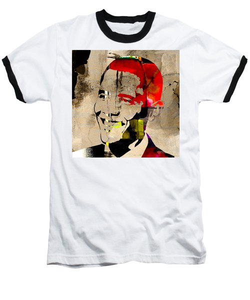 Baseball T-Shirt featuring the photograph Barack Obama by Marvin Blaine