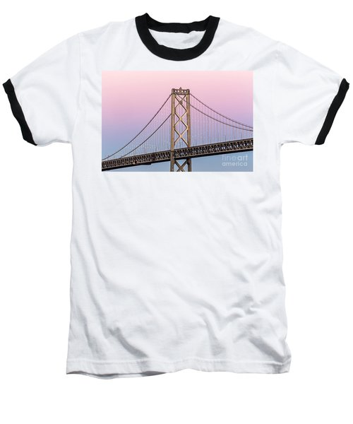 Bay Bridge Lights At Sunset Baseball T-Shirt