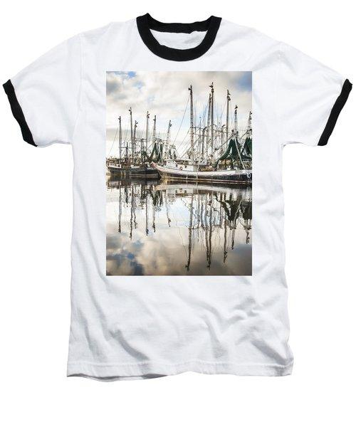 Bayou Labatre' Al Shrimp Boat Reflections Baseball T-Shirt