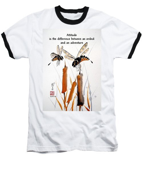 Baseball T-Shirt featuring the painting Beeing Present by Bill Searle
