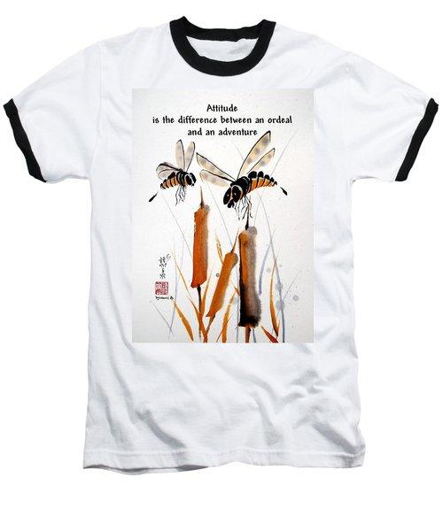 Beeing Present Baseball T-Shirt by Bill Searle