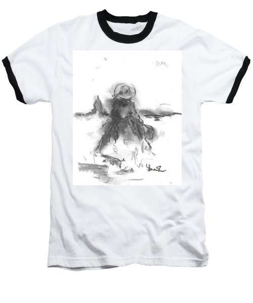 Baseball T-Shirt featuring the drawing Being Happy by Laurie L