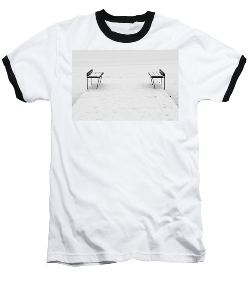 Benches On A Dock Baseball T-Shirt