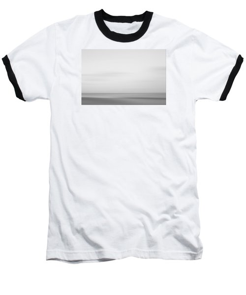 Black And White Abstract Seascape No. 01 Baseball T-Shirt