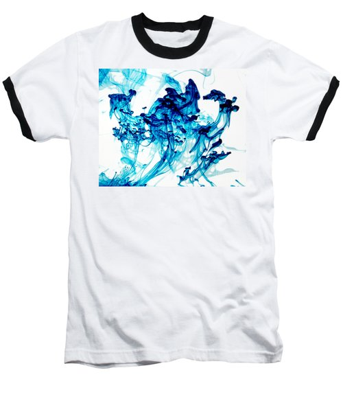 Blue Chaos Baseball T-Shirt by Liz Masoner