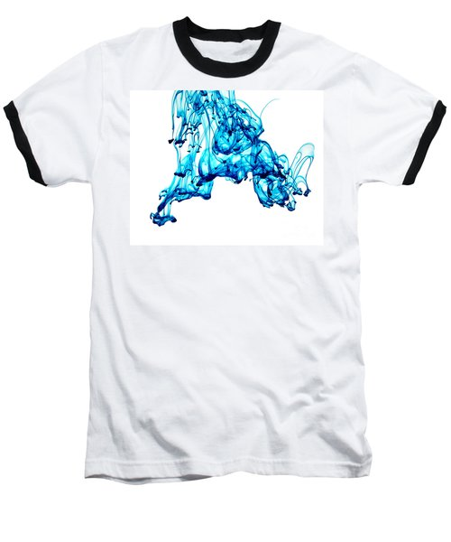 Blue Descent Baseball T-Shirt by Liz Masoner
