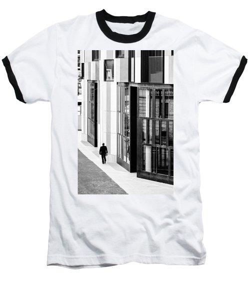 Business Man In Milan Baseball T-Shirt by Alfio Finocchiaro