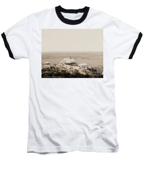 Casino At The Top Of Mt Beacon In Sepia Tone Baseball T-Shirt