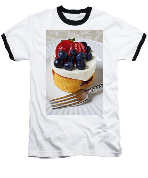 Cheese Cream Cake With Fruit Baseball T-Shirt by Garry Gay