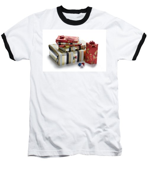 Baseball T-Shirt featuring the photograph Christmas Gifts by Lee Avison
