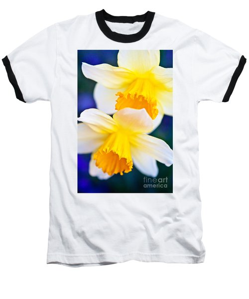 Baseball T-Shirt featuring the photograph Daffodils by Roselynne Broussard