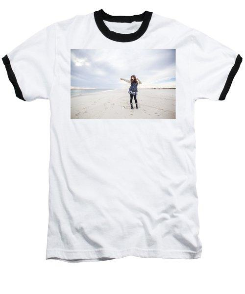 Dance At The Beach Baseball T-Shirt
