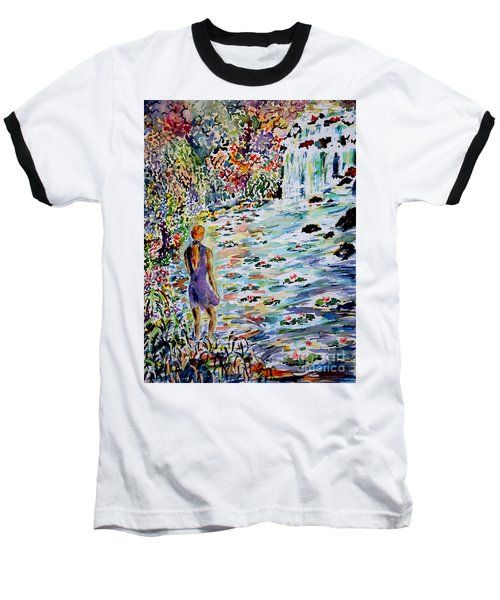 Baseball T-Shirt featuring the painting Daughter Of The River by Alfred Motzer