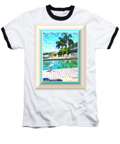 Dry Dock Bird Walk - Digitally Framed Baseball T-Shirt