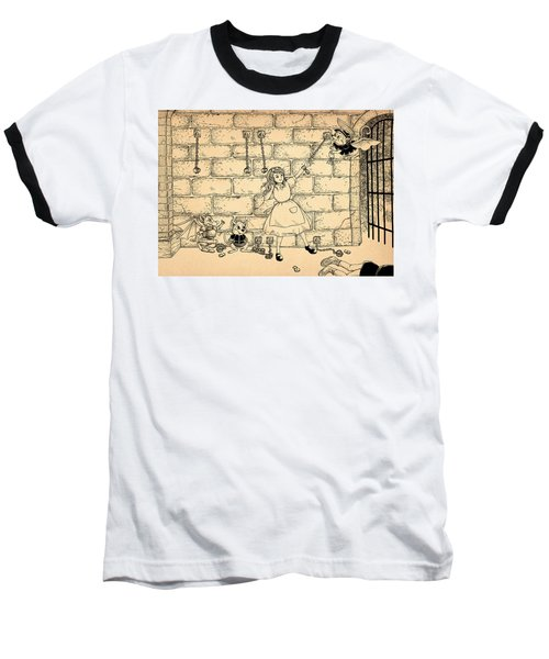 Baseball T-Shirt featuring the drawing Escape by Reynold Jay