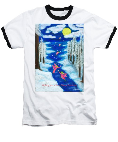 Faery Merry Christmas Baseball T-Shirt by Diana Haronis