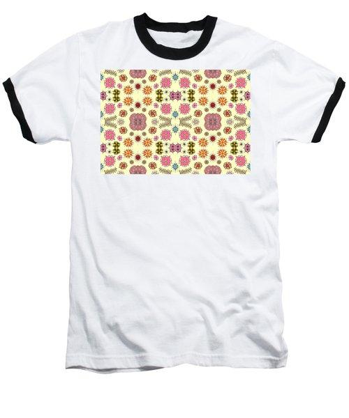Floral Burst Baseball T-Shirt