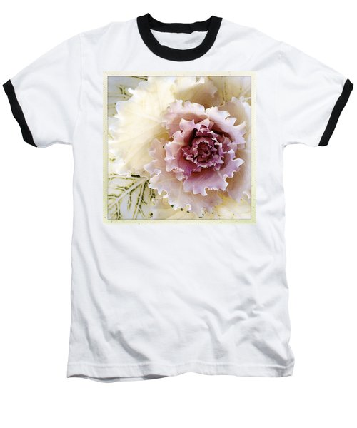 Flower Baseball T-Shirt by Les Cunliffe