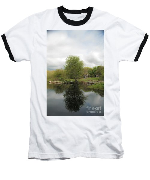Grays Mill Pond Baseball T-Shirt by Angela DeFrias