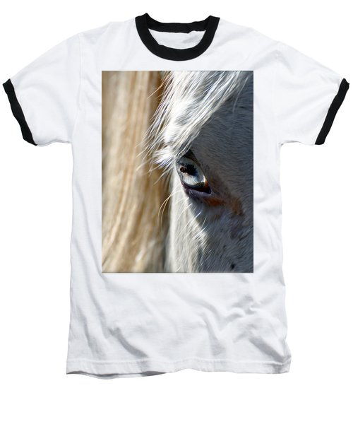 Horse Eye Baseball T-Shirt by Savannah Gibbs