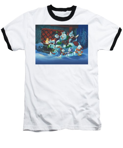 Baseball T-Shirt featuring the painting Joy To The World by Michael Humphries