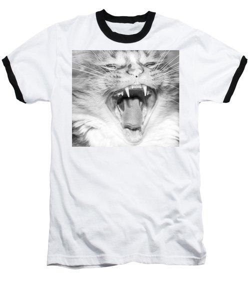 Laughing Cat Baseball T-Shirt by Jeannette Hunt