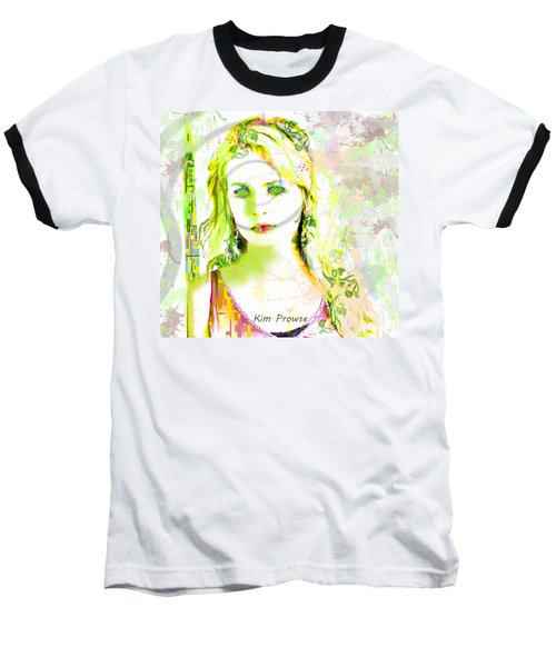 Baseball T-Shirt featuring the digital art Lily Lime by Kim Prowse