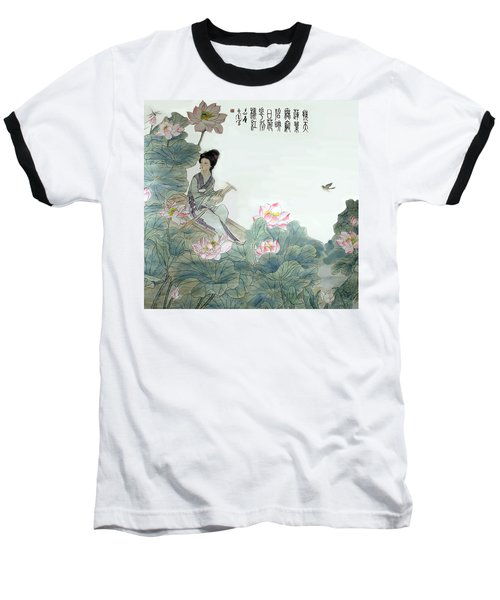Baseball T-Shirt featuring the photograph Lotus Pond by Yufeng Wang